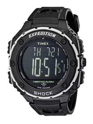 TIMEX T499509J EXPEDITION SHOCK XL that's water resistant for the easy reader