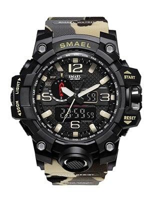 SMAEL Men's Army Analog Digital Watch