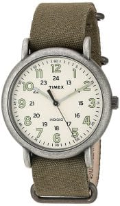 Timex men's black leather