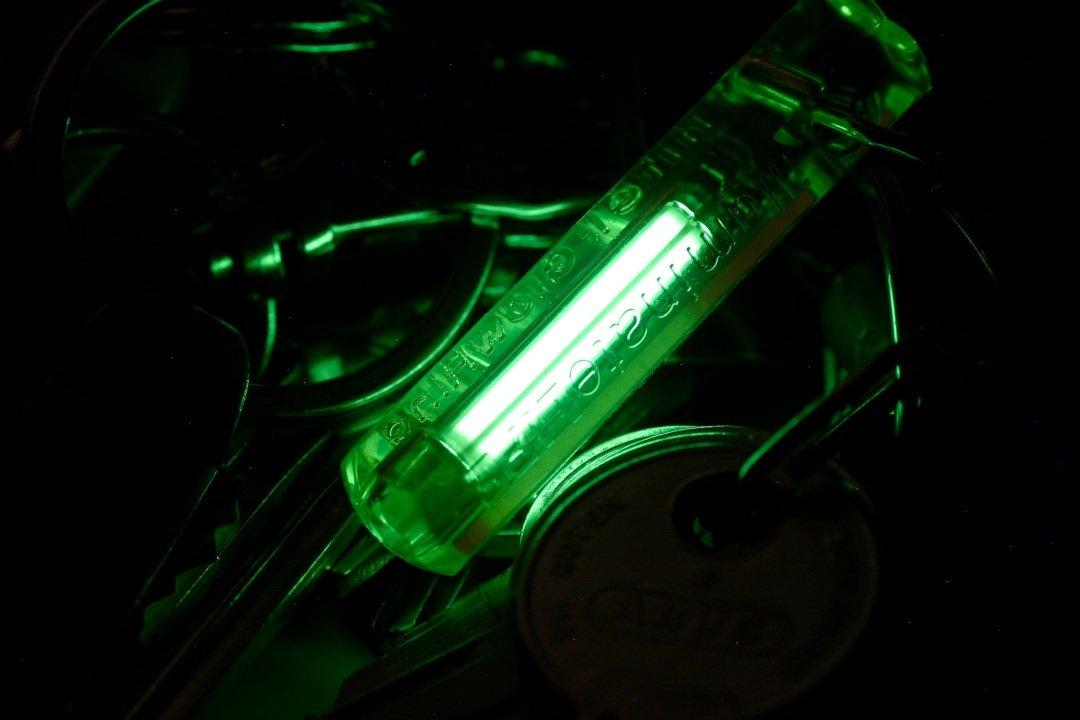 Tritium gas in a tube